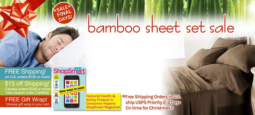 Holiday Wrap Up! Bamboo Sheet Set Sale!