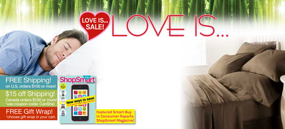 Love is...Bamboo Sheet Set Sale!
