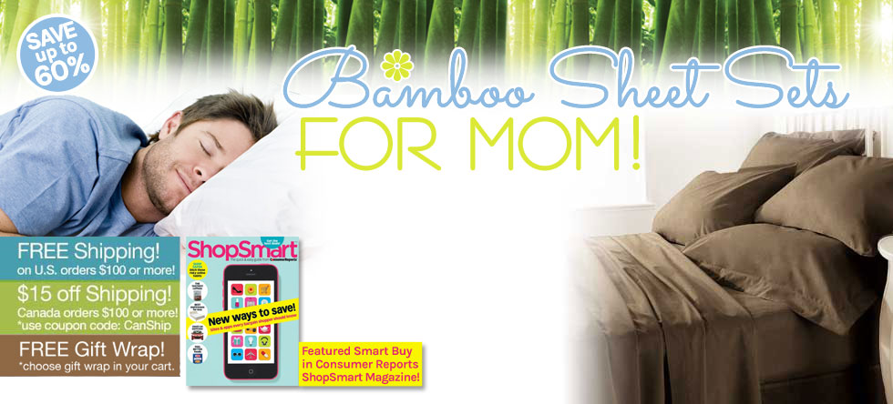 Mom's Day Bamboo Sheet Set Gift Sale!