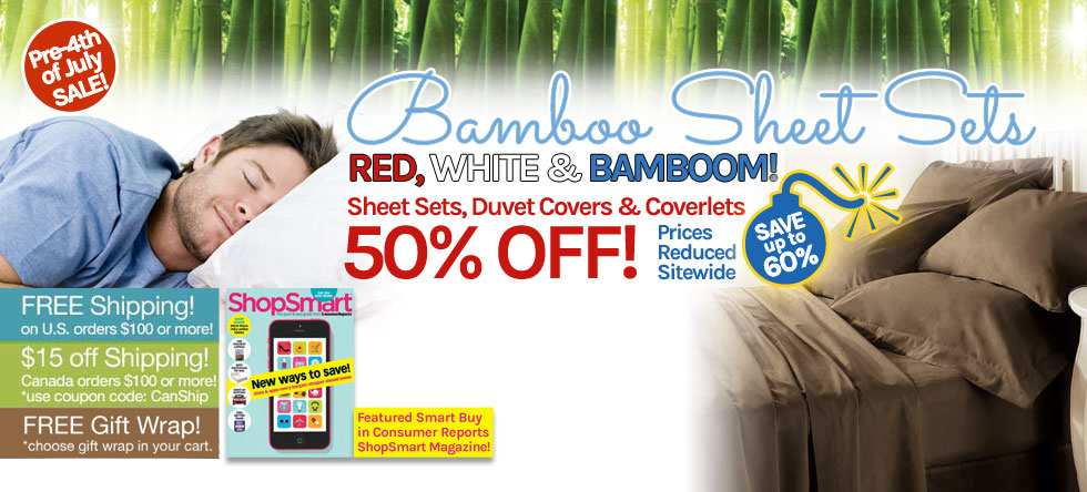 Pre-4th of July Bamboo Sheet Set Sale!