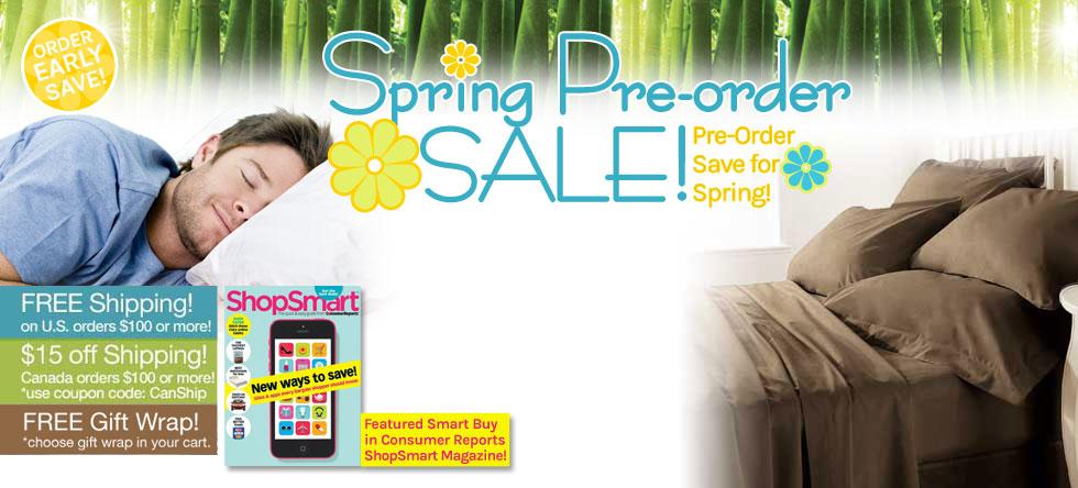 Spring Pre-Order Bamboo Sheet Set Sale!