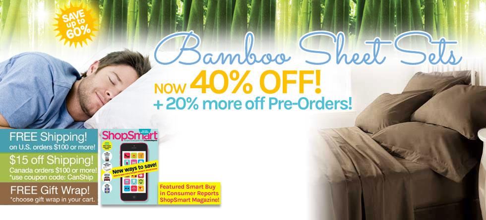 Summer Pre-Order Bamboo Sheet Set Sale!