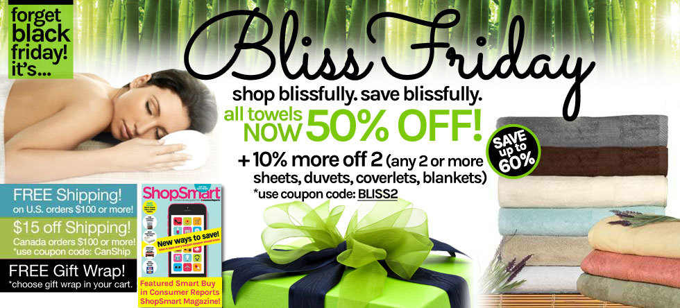 Bliss Friday! Bamboo Towel Sale!