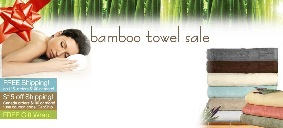 Holiday Pre-Order Bamboo Towels Sale!