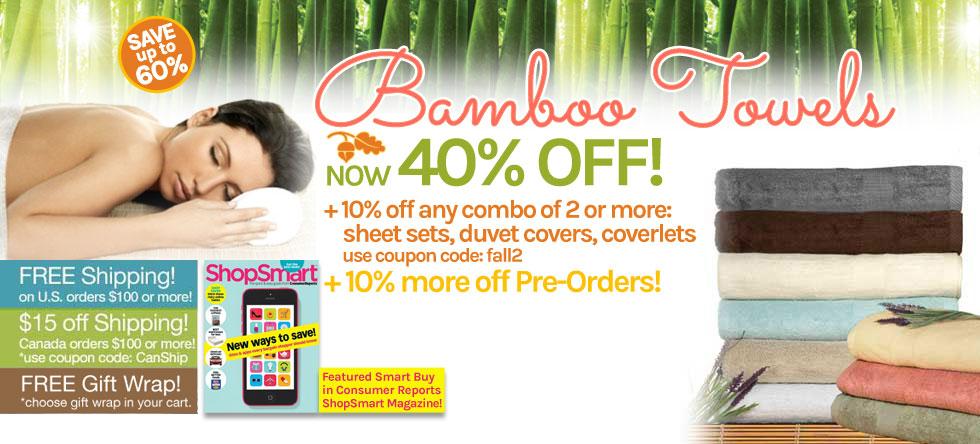 Fall into Bamboo Towel Sale!