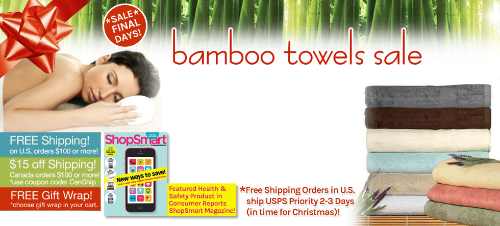 Holiday Wrap Up! Bamboo Towel Sale!