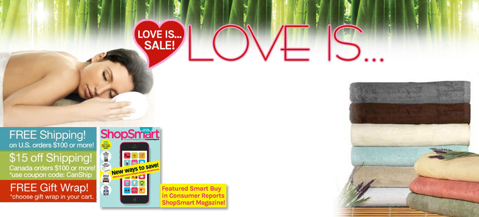 Love is...Bamboo Towel Sale!