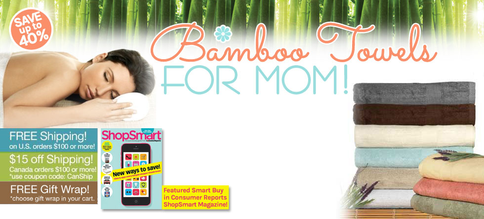 Mom's Day Bamboo Towel Gift Sale!