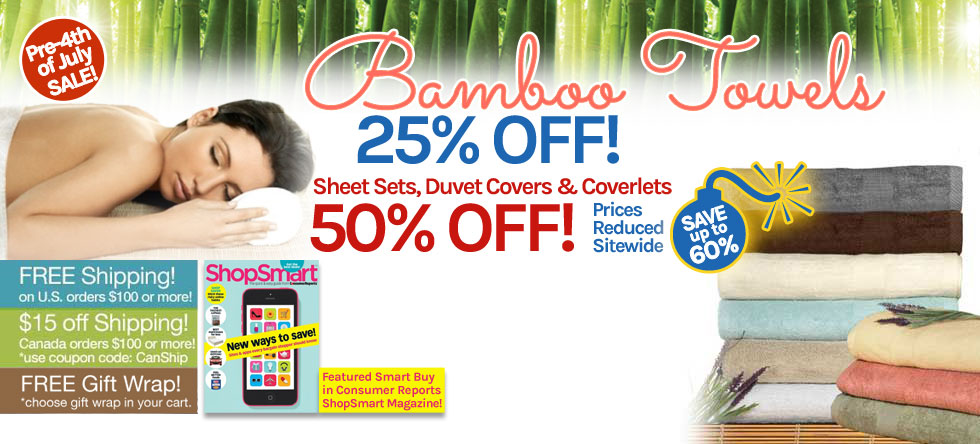 Pre-4th of July Bamboo Towel Sale!