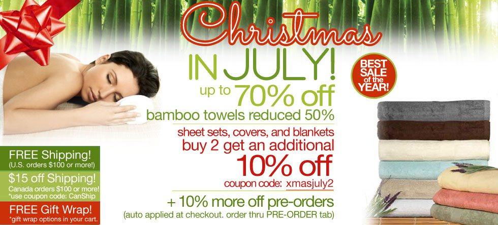 Christmas in July Bamboo Towel Sale!