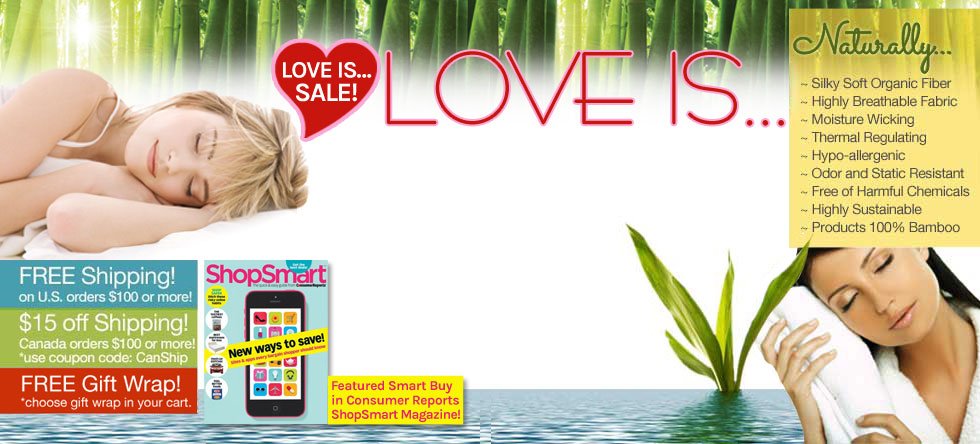 Love is...Bamboo Bedding Sale!