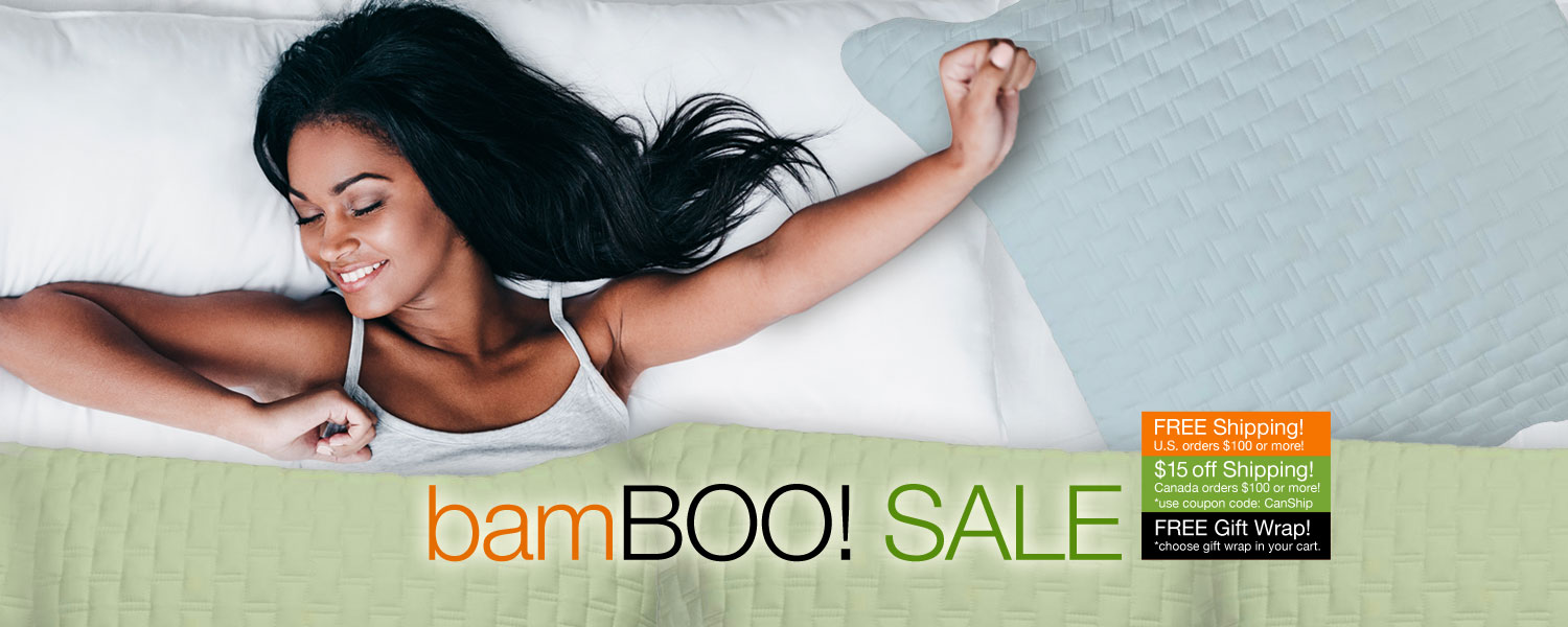 bamBOO SALE! SPOOKTACULAR SAVINGS on bamboo coverlets and shams
