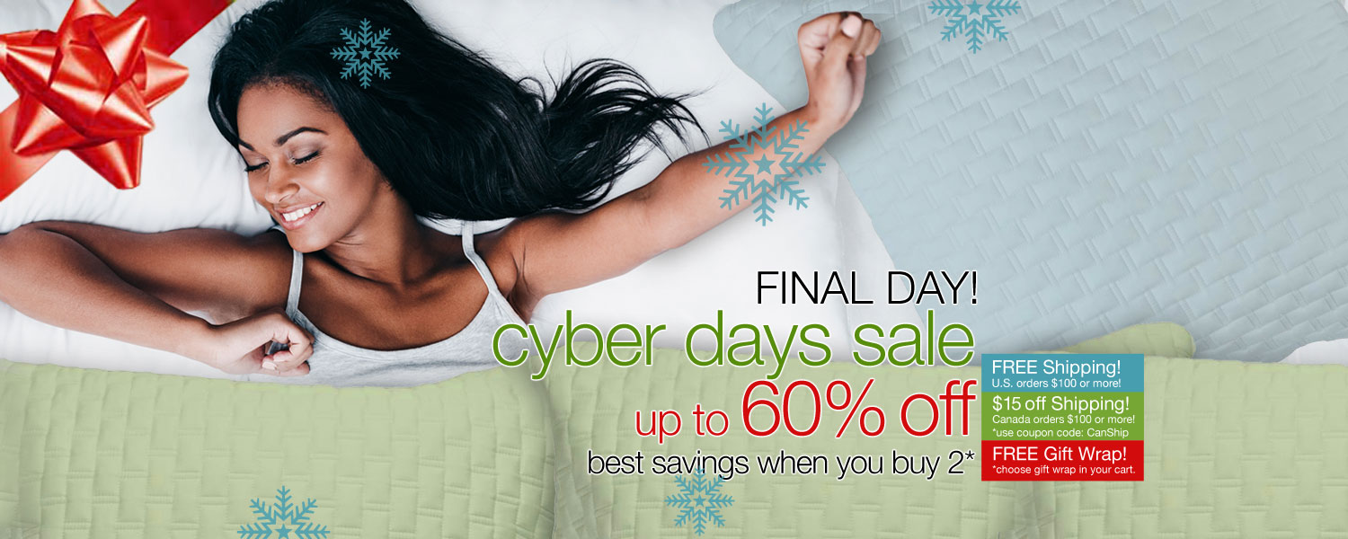 CYBER DAYS SALE! up to 60% OFF on bamboo coverlets and shams