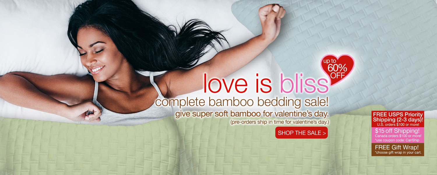 love is bliss complete bamboo bedding SALE! up to 60% off