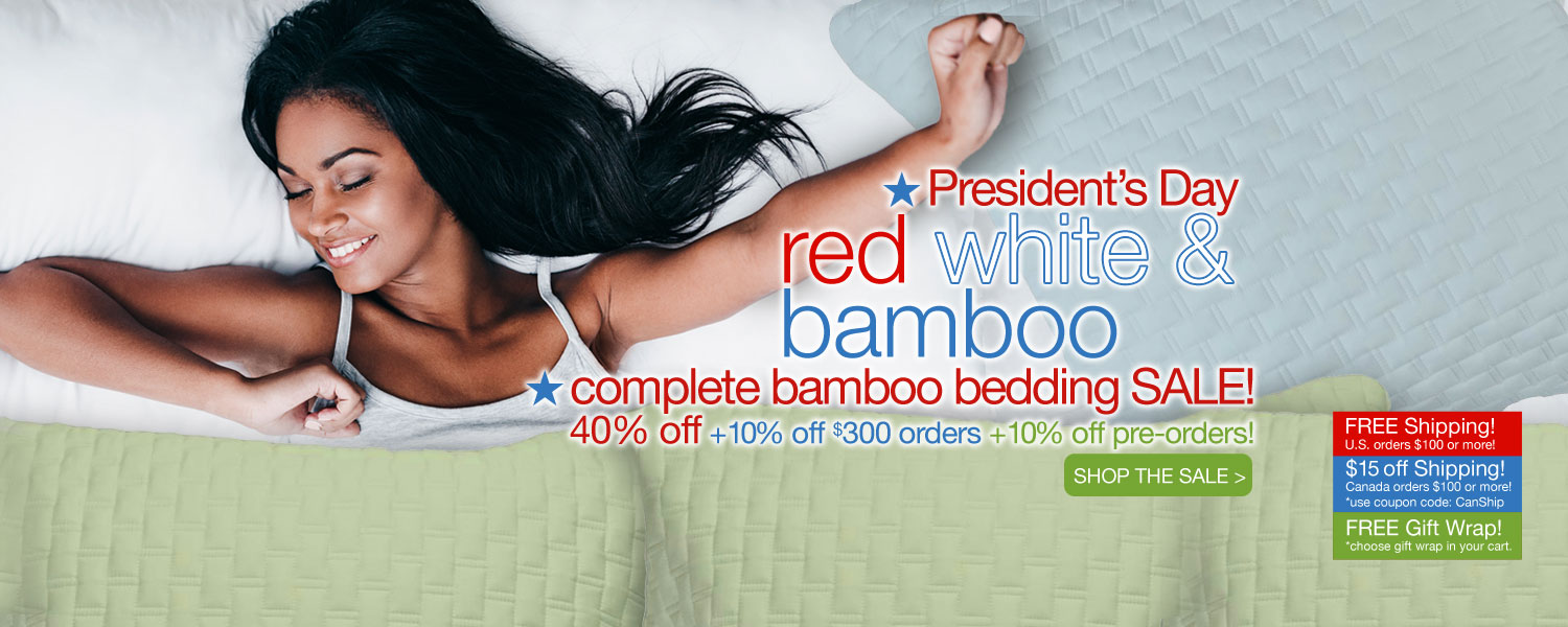 President's Day complete bamboo bedding SALE! up to 60% off