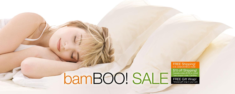 bamBOO SALE! SPOOKTACULAR SAVINGS on bamboo bed & bath