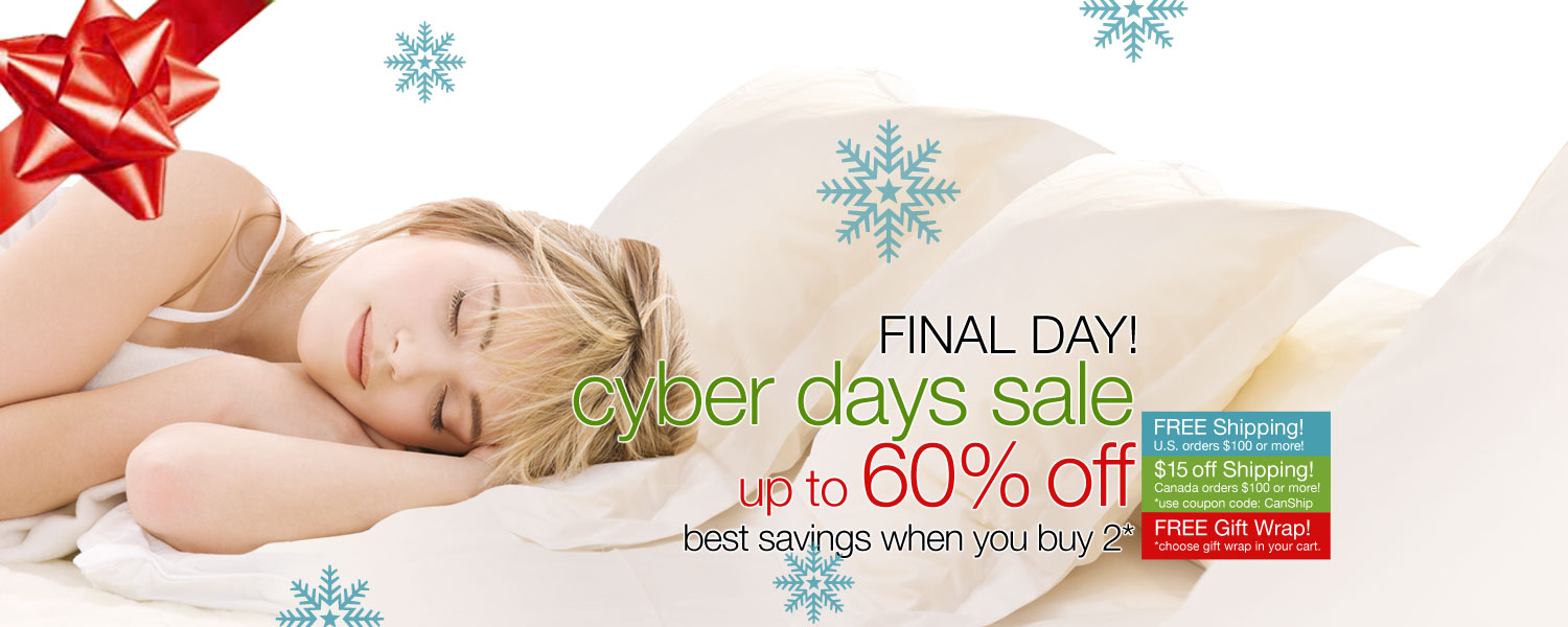 CYBER DAYS SALE! up to 60% OFF on bamboo bed & bath