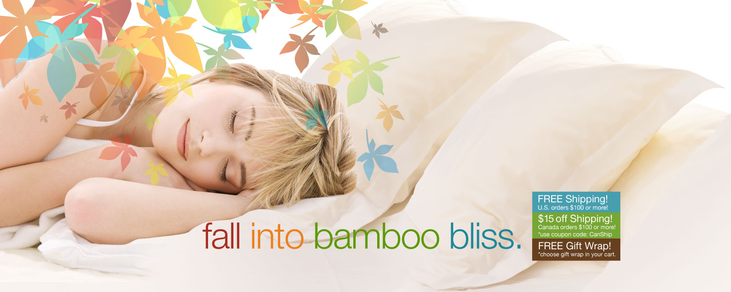 fall into bamboo bliss. save on bamboo bed and bath