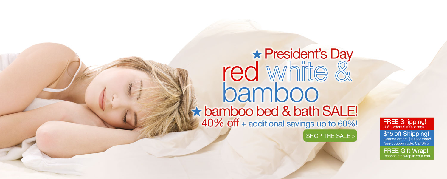 President's Day bamboo bed & bath SALE! up to 60% off