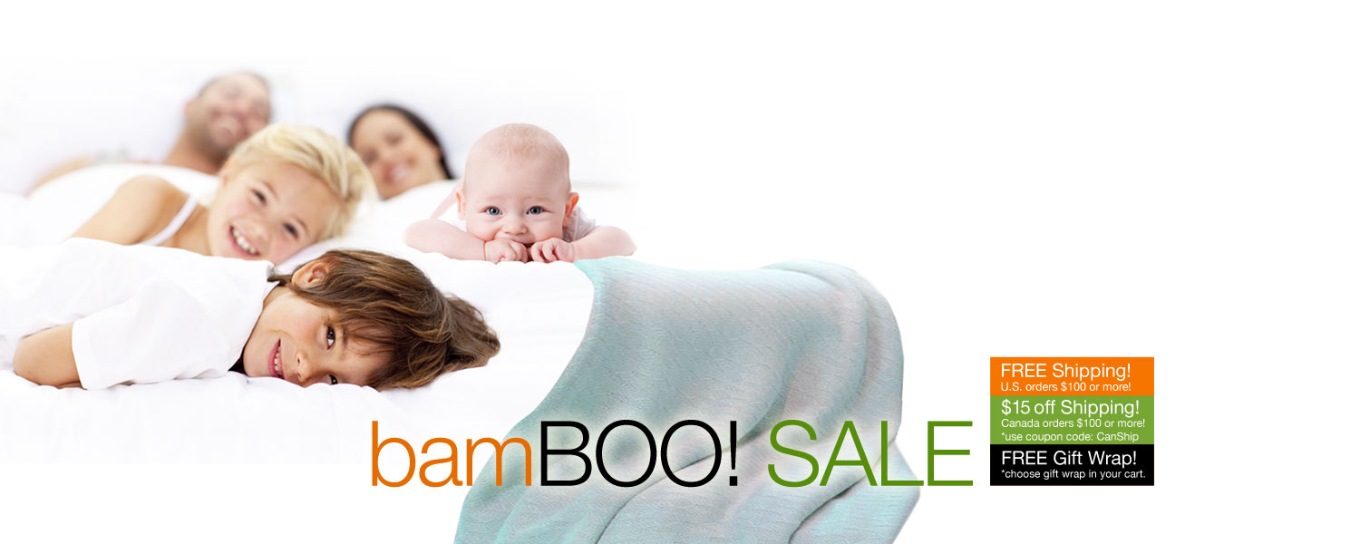 bamBOO SALE! SPOOKTACULAR SAVINGS on bamboo duvet covers and blankets