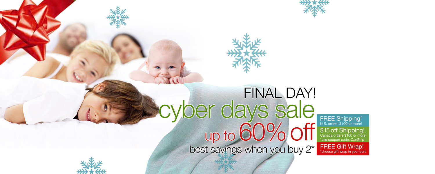 CYBER DAYS SALE! up to 60% OFF on bamboo duvet covers and blankets