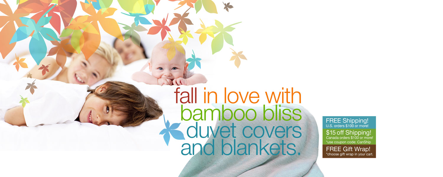 fall in love with bamboo bliss. save on bamboo duvet covers and blankets