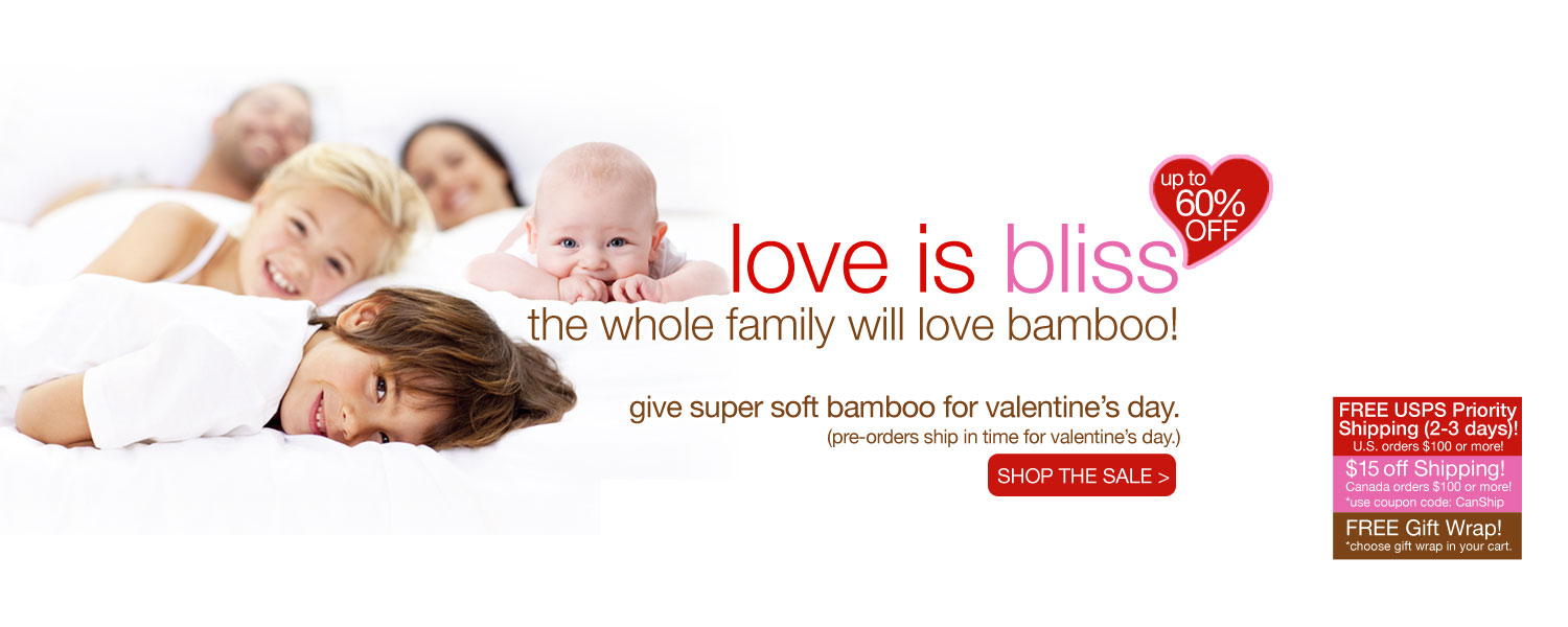 love is bliss bamboo for the whole family SALE! up to 60% off