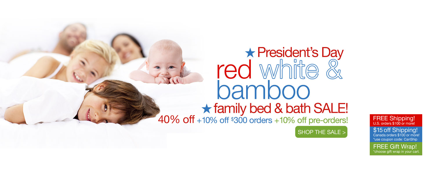 President's Day bamboo for the whole family SALE! up to 60% off