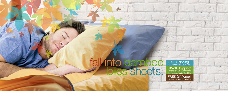 fall into bamboo bliss sheets. save on bamboo sheet sets