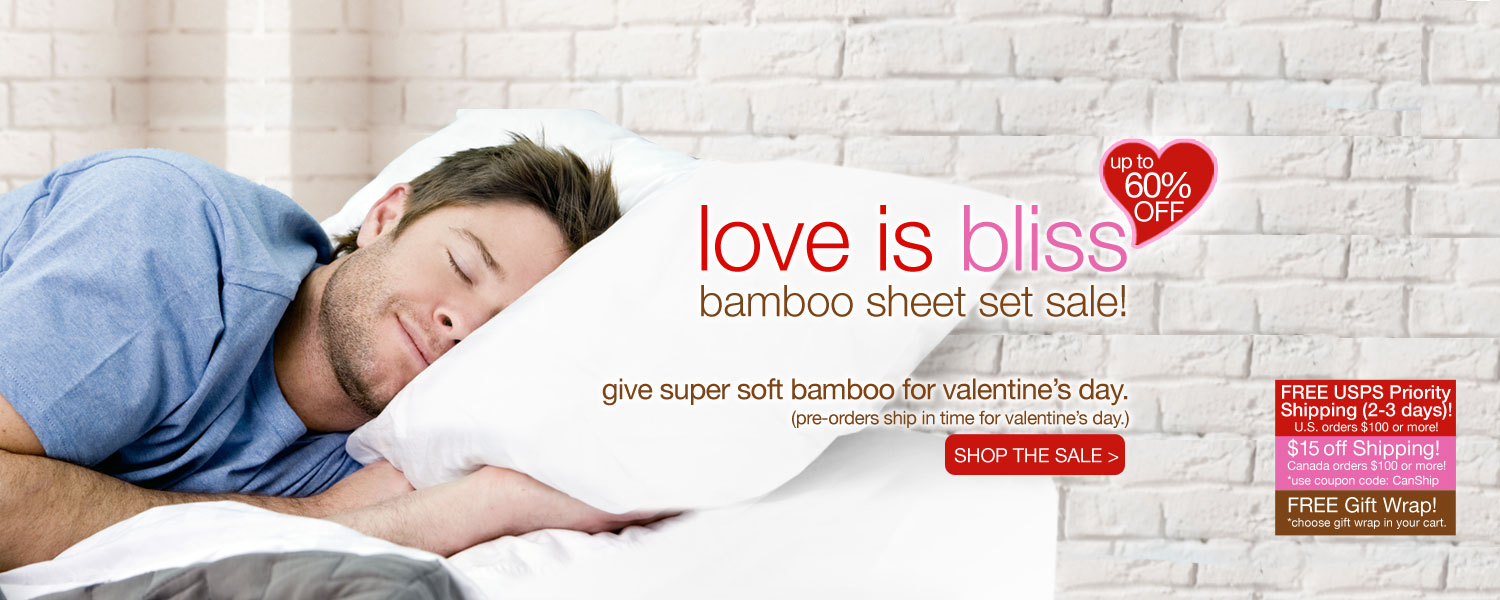 love is bliss bamboo sheet set SALE! up to 60% off