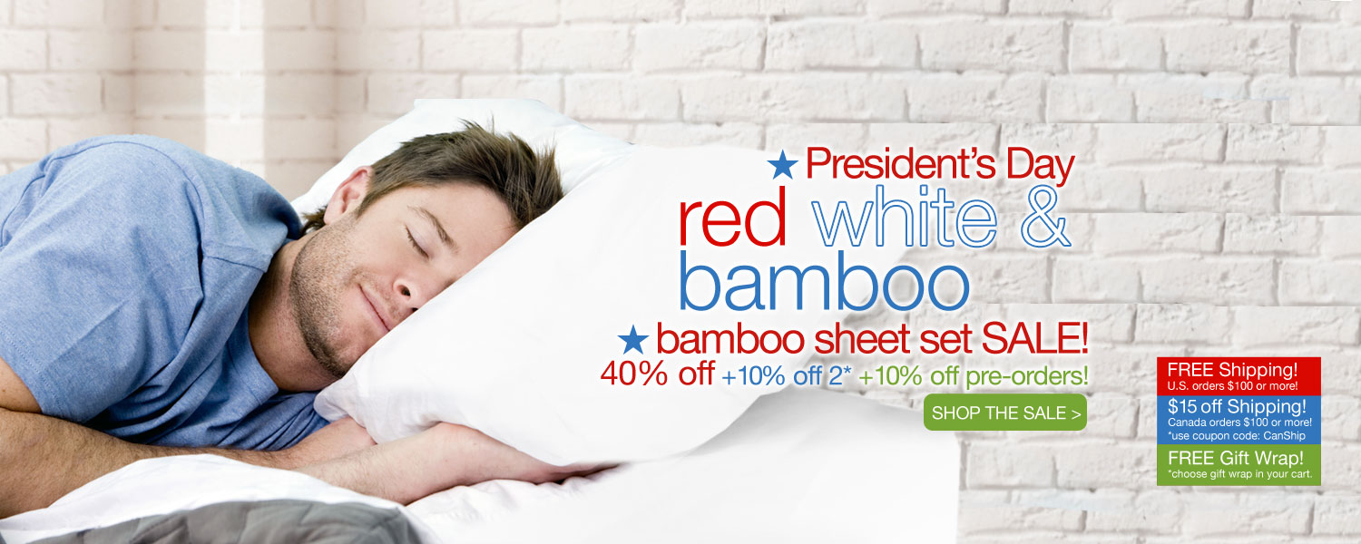 President's Day bamboo sheet set SALE! up to 60% off