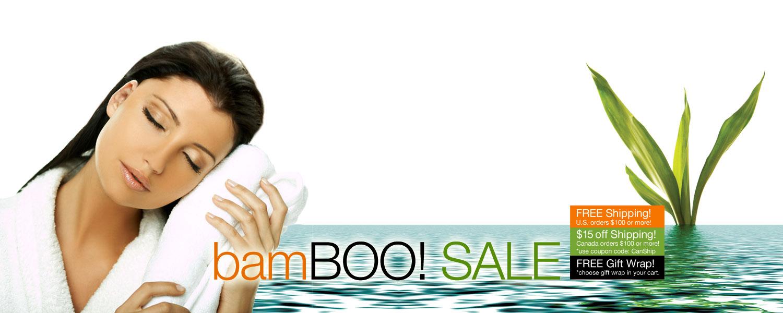 bamBOO SALE! SPOOKTACULAR SAVINGS on bamboo bath towels