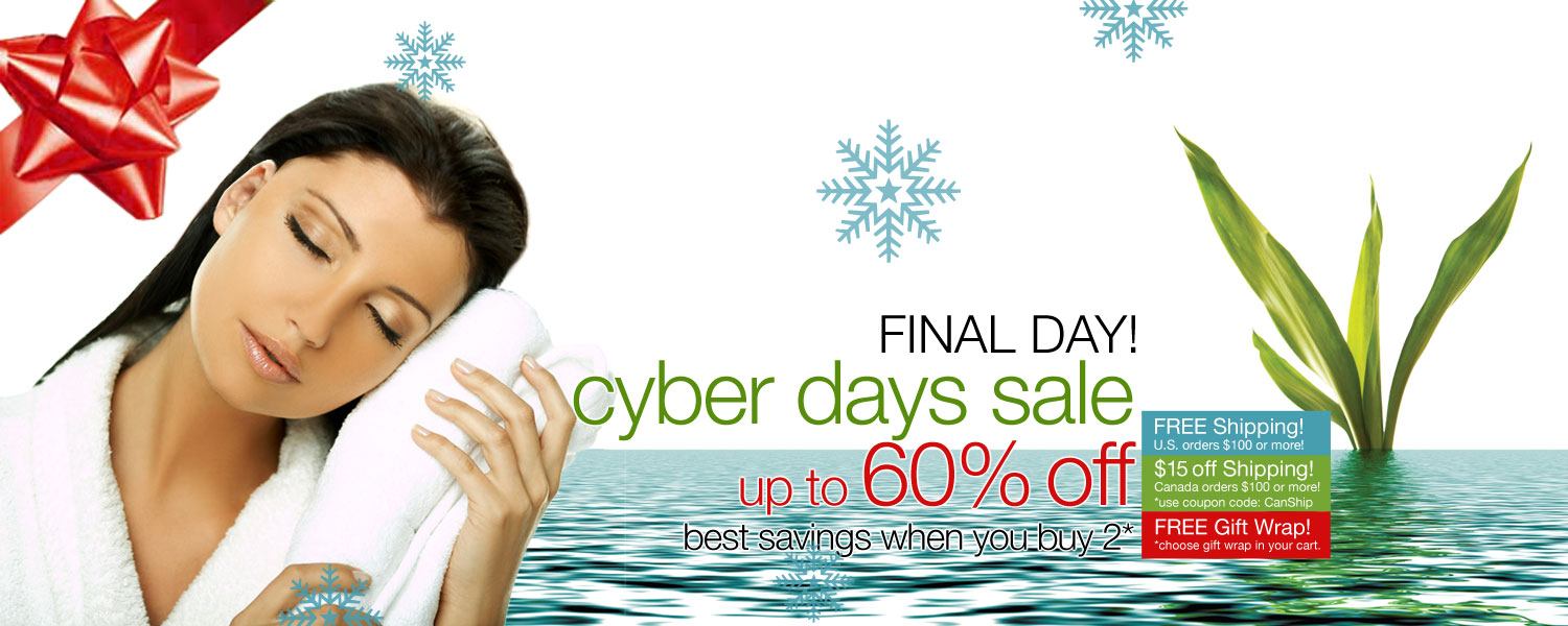 CYBER DAYS SALE! up to 60% OFF on bamboo bath towels