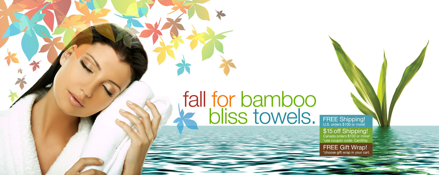 fall for bamboo bliss towels. save on bamboo bath towels