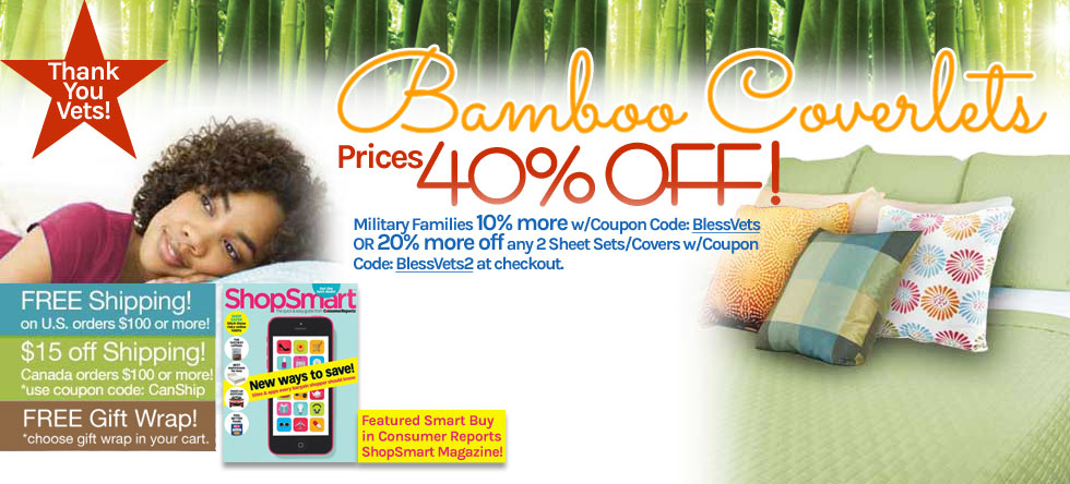 Memorial Day Weekend Bamboo Coverlet Sale!