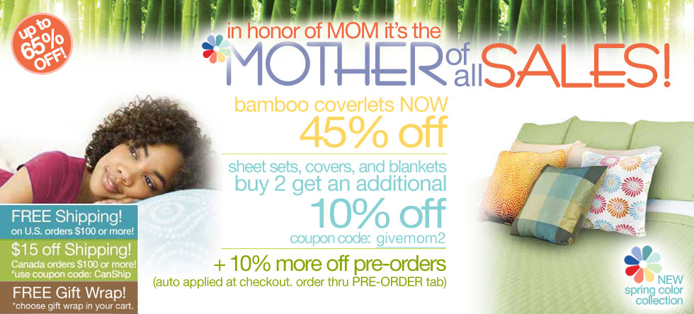 Mother of all Bamboo Coverlet Sale!