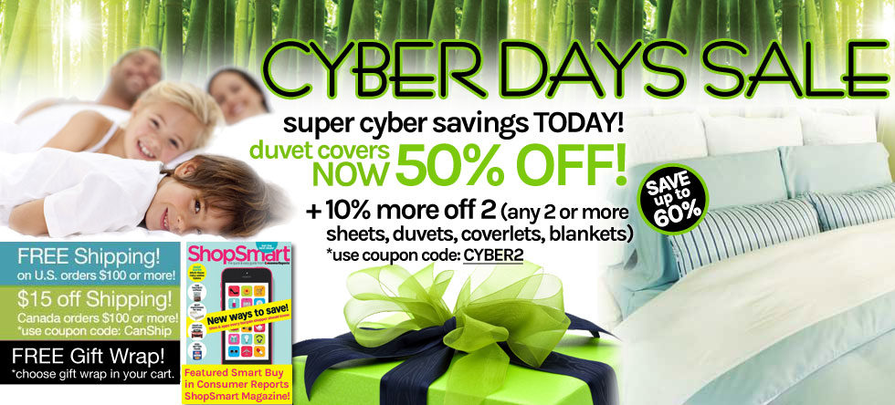 Cyber Days! Bamboo Duvet Cover Sale!