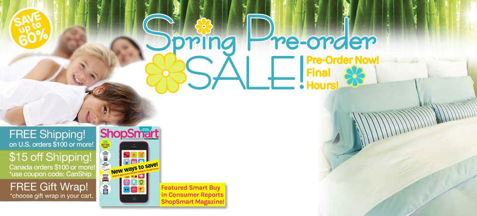 Spring Pre-Order Bamboo Duvet Cover Sale!