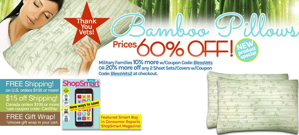 Memorial Day Weekend Bamboo Pillow Sale!