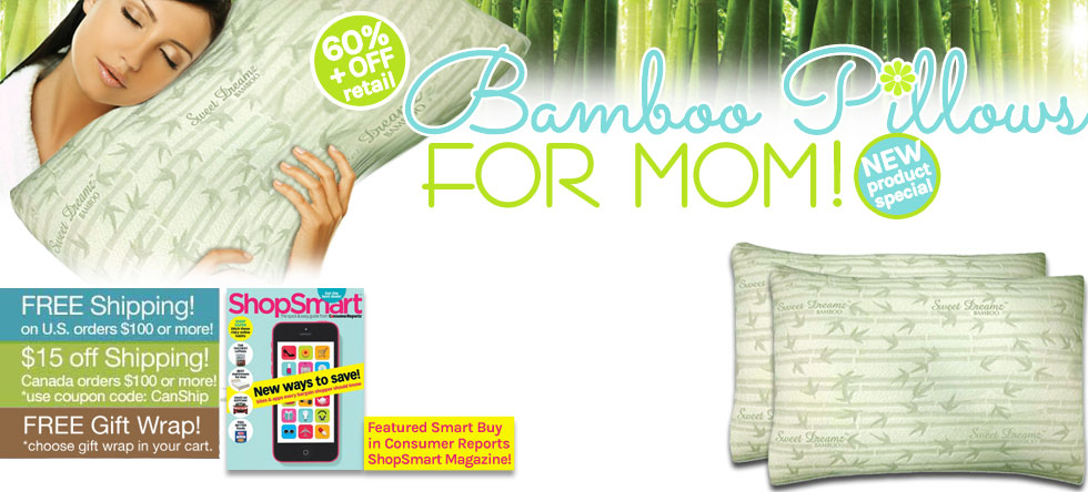 Mom's Day Bamboo Pillows Gift Sale!