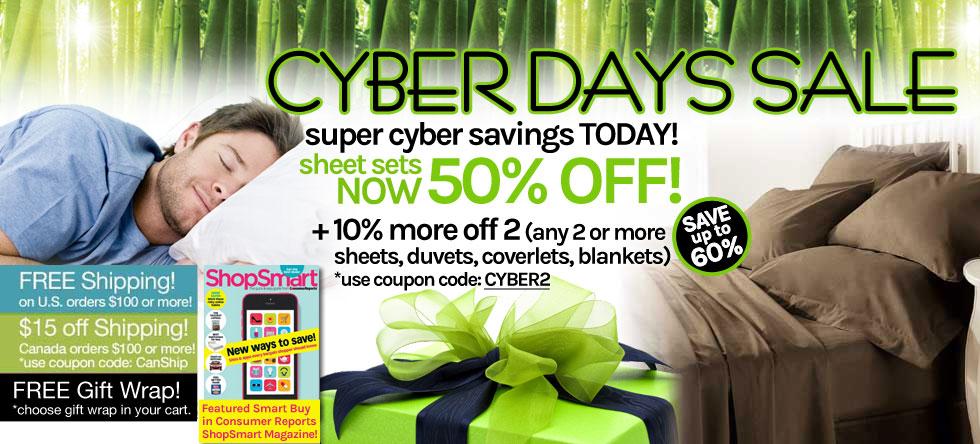 Cyber Days! Bamboo Sheet Set Sale!