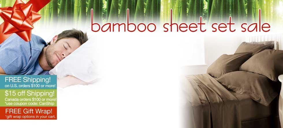 Holiday Pre-Order Bamboo Sheet Set Sale!