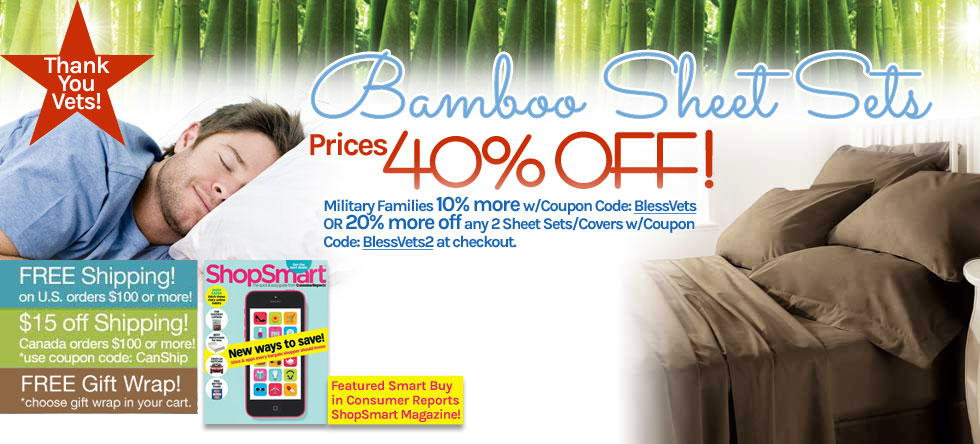 Memorial Day Weekend Bamboo Sheet Set Sale!
