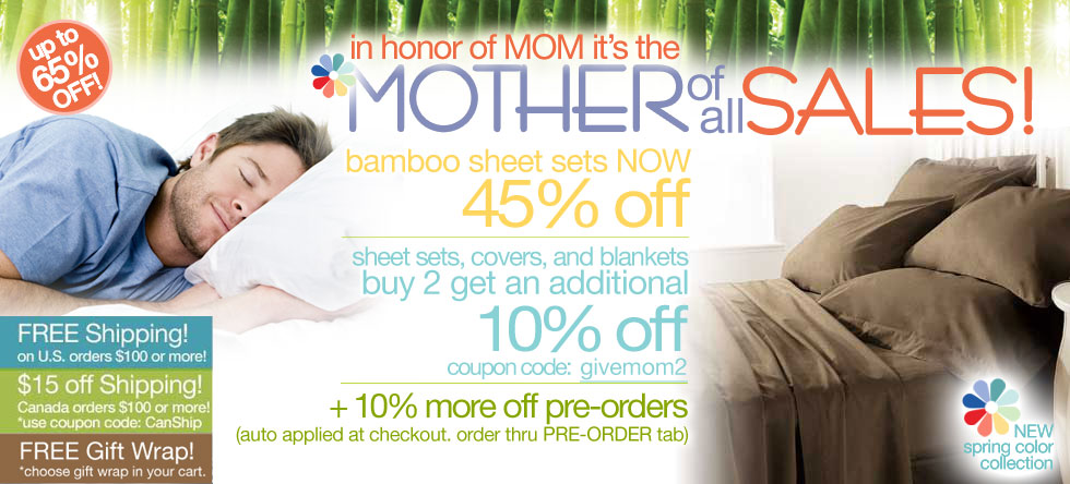 Mother of all Bamboo Sheet Set Sale!