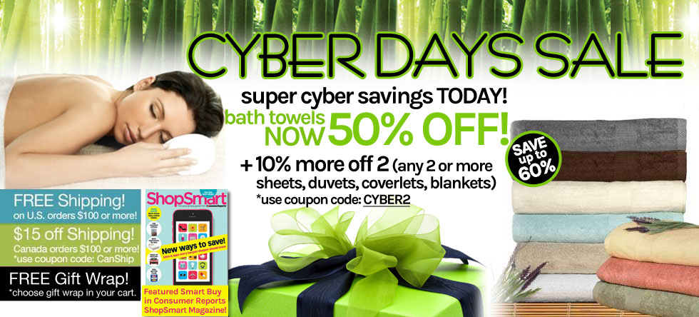 Cyber Days! Bamboo Towel Sale!