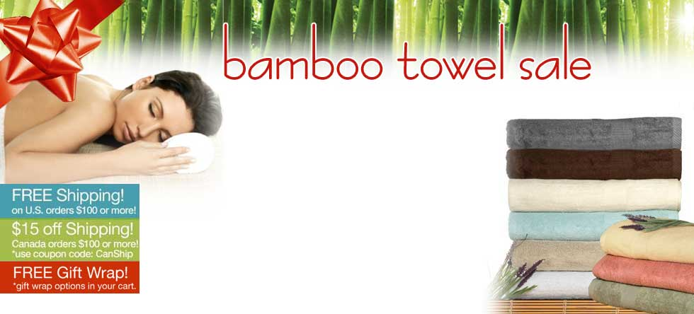Holiday Pre-Order Bamboo Towel Sale!