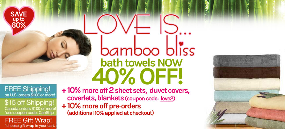 LOVE IS... Bamboo Towel Sale!