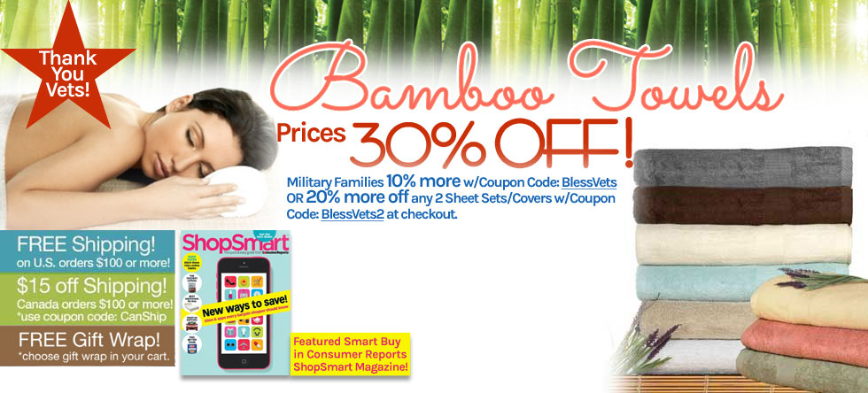 Memorial Day Weekend Bamboo Towel Sale!