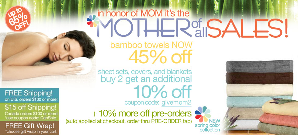 Mother of all Bamboo Towel Sale!