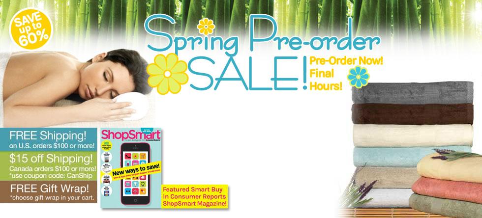 Spring Pre-Order Bamboo Towel Sale!